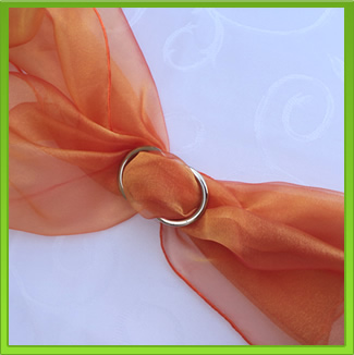 Orange Chair Sash (tie back)