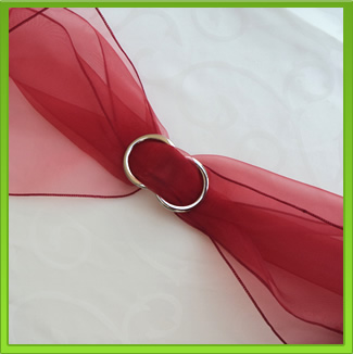 Red Chair Sash (tie back)