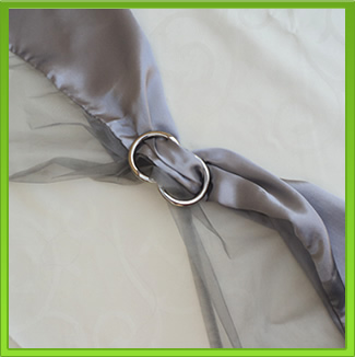 Two-tone Silver Chair Sash (tie back)