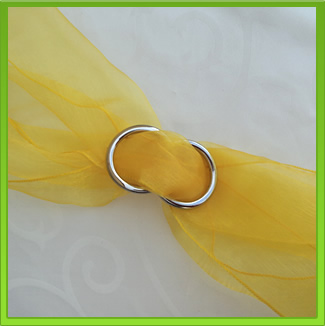 Yellow Chair Sash (tie back)
