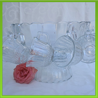 Glass Punch Bowl for Hire