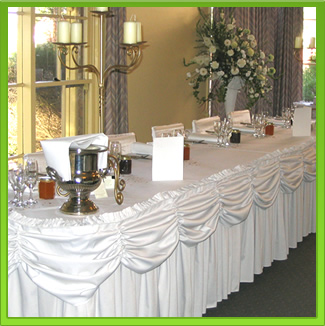 White Scollop Main Table Draping