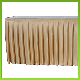 Gold Table Skirt / Frill