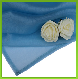Blue Organza Table Overlay