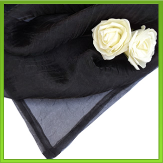 Black Organza Table Overlay