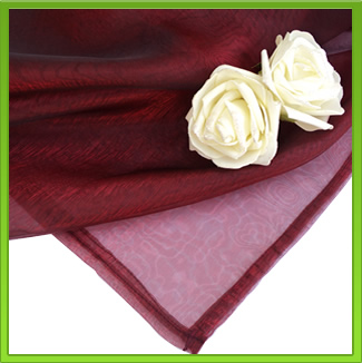 Maroon Organza Table Overlay