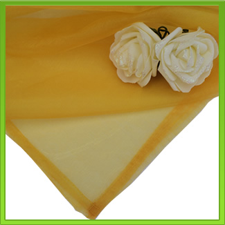 Mustard Yellow Organza Table Overla