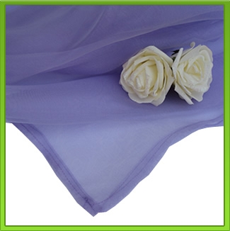 Purple Organza Table Overlay