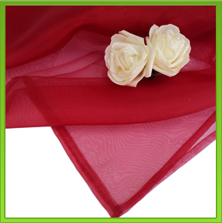 Red Organza Table Overlay