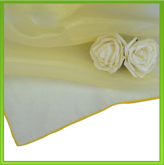 Yellow Organza Table Overlay