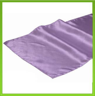 Satin Lilac Table Runner